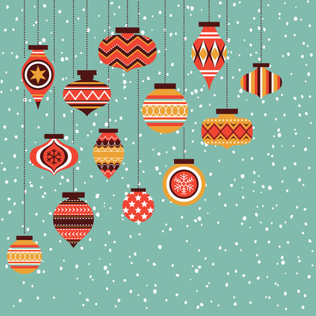 red and gold christmas ornament balls background