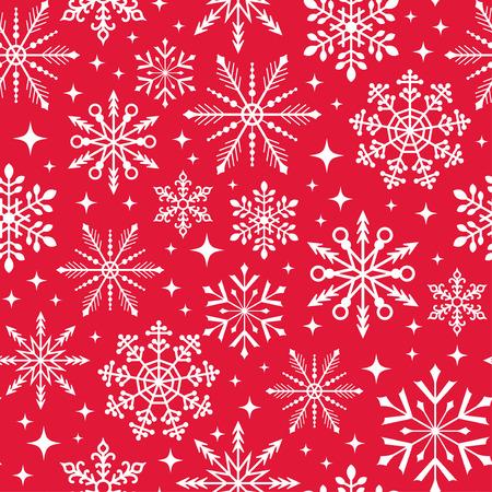 schneeflocke: nahtlose Weihnachtsschneeflocke-muster Illustration