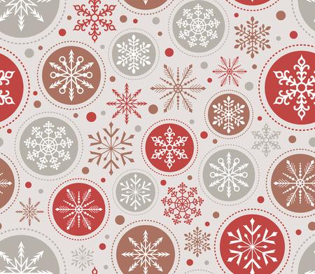 クリスマス雪の結晶の飾りのシームレスなパターン  イラスト・ベクター素材