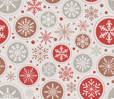 seamless christmas snowflake ornament pattern