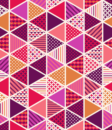 seamless colorful geometric triangle tiles patchwork pattern