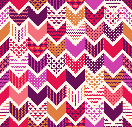 seamless colorful arrow chevron geometric patchwork pattern