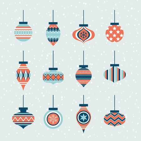 christmas element: christmas ornaments ball element set Illustration