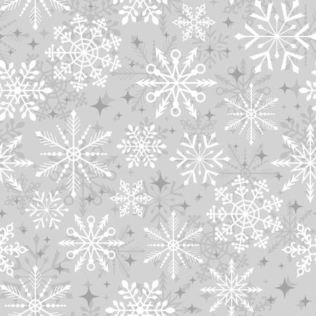 シームレスなクリスマス雪片のパターン  イラスト・ベクター素材