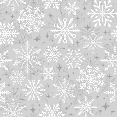 seamless christmas snowflake pattern Stock Illustratie