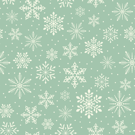 naadloze Kerstmissneeuwvlok sneeuwval patroon Stock Illustratie