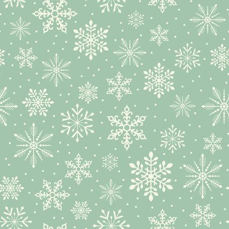 seamless christmas snowflake snowfall pattern Illustration