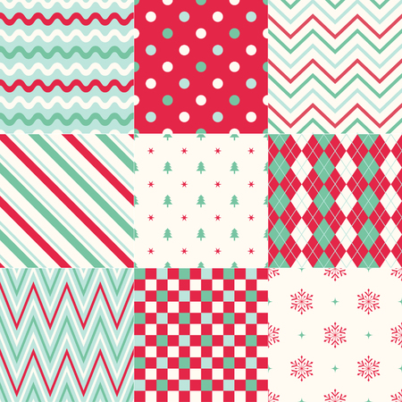 christmas wrapping: seamless background christmas geometric pattern