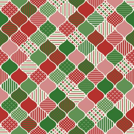 크리스마스 장식 기하학적 질감 배경 무늬 일러스트