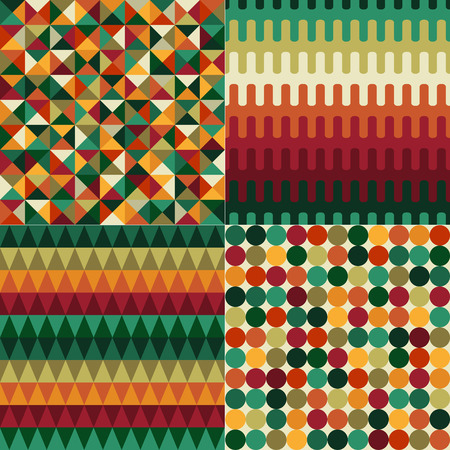 seamless christmas color geometric pattern