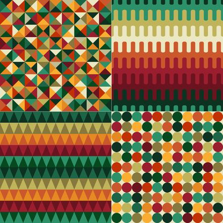 nostalgy: seamless christmas color geometric pattern