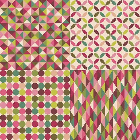 christmas wallpaper: seamless christmas color geometric pattern