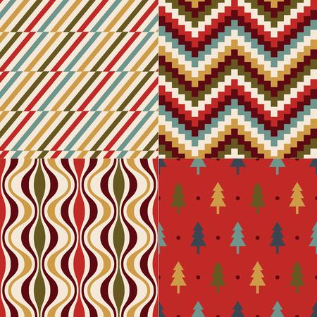 nostalgy: christmas color geometric pattern Illustration