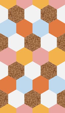 Naadloze zeshoekig geometrische structuur patroon