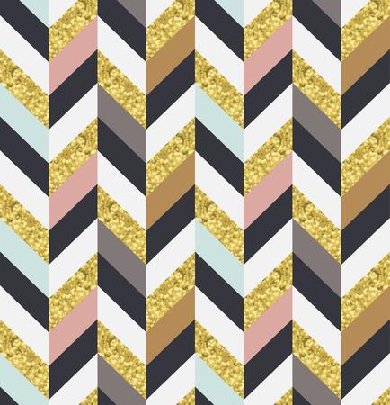 zig: seamless gold textured geometric herringbone pattern