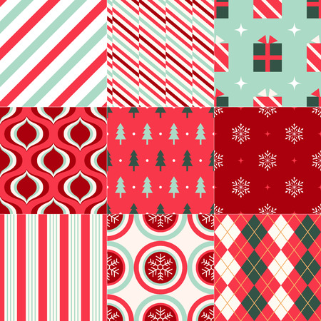Christmas wrapping paper geometric background