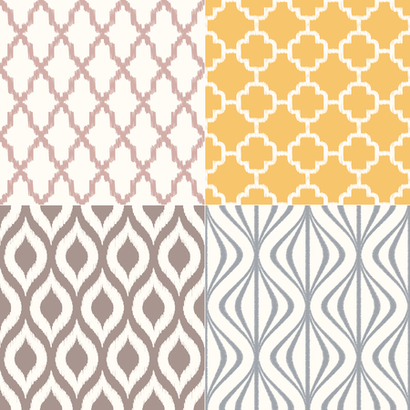 seamless geometric textile background pattern - Vector