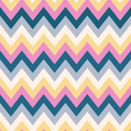 Abstract Vintage Noisy Textured colorful Zig Zag Striped Background Stock Vector