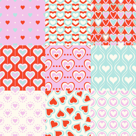 seamless heart symbol pattern for wrapping paper, textile or wallpaper background