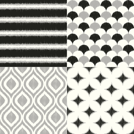 seamless monochrome geometric textile background pattern