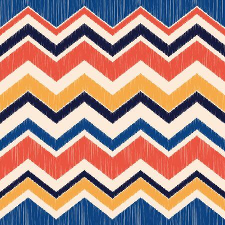 seamless chevron wave fabric textile pattern background Vector Illustration