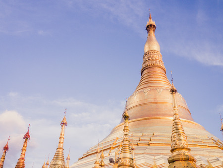 travelled: Top tourist attraction Shwedagon pagoda, Myanmar Stock Photo
