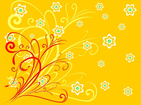 Abstract floral motif for background or wallpaper