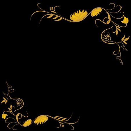 background motif: golden frame with classic motif