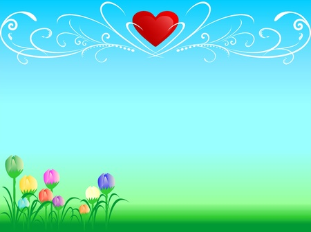 Abstract love background Standard-Bild