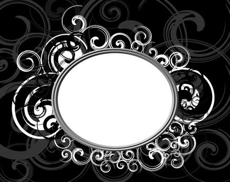 Illustration of Black Retro frame