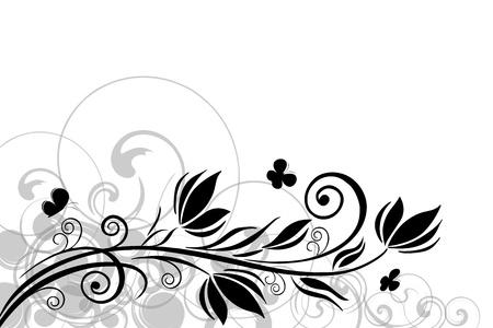 花のモチーフを抽象的な背景