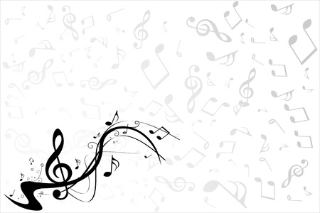 abstract melody: Music note background