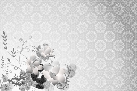 Flower Background with Floral pattern Stock Photo