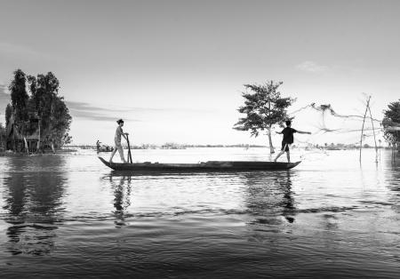 mekong: flooding time in Mekong delta
