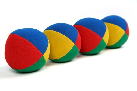 many colored: 4 colourful balls Stock Photo