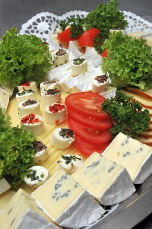 cheese platter on cold buffet Stock Photo - 8611042