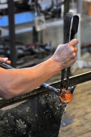 glassblower: glassblower at work
