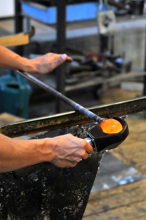 glassblower at work Stock Photo - 8725701