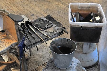 glassblower: Glassblowing tools