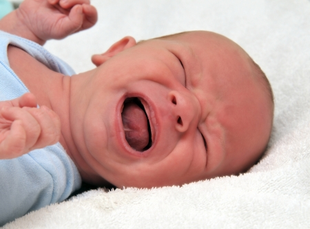 gape: crying baby