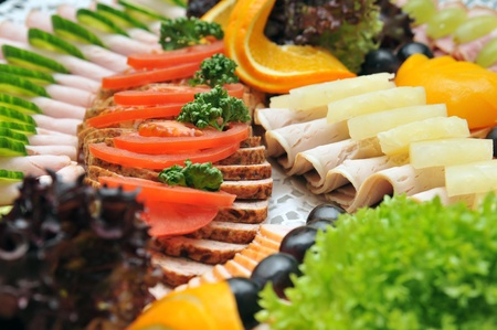 catering: cold cuts Stock Photo