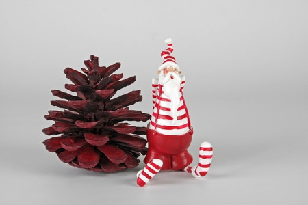 Santa Claus with fir cone Stock Photo - 10223608