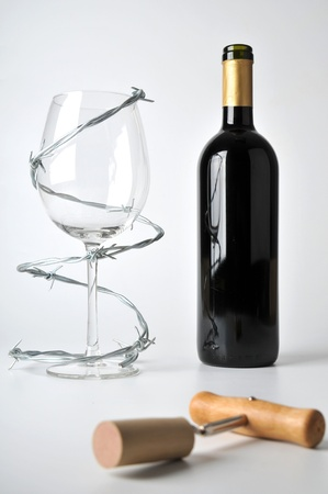 risky behavior: alcohol can be dangerous Stock Photo