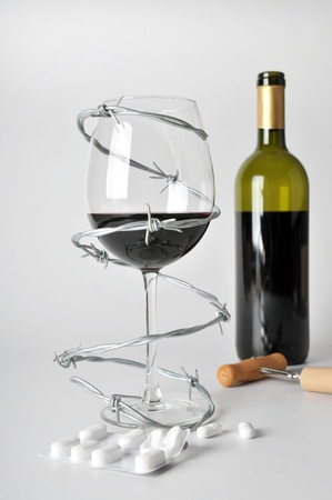 alcohol abuse: alcohol can be dangerous Stock Photo