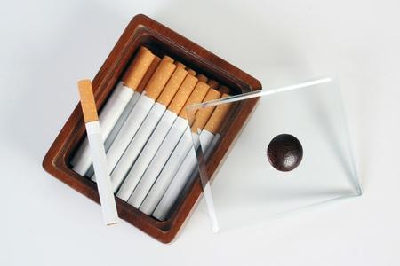 cigarette case: cigarettes