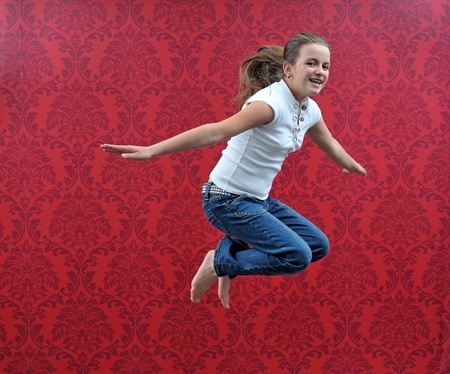 jumping girl photo