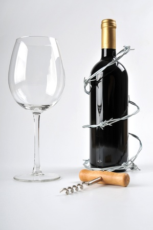 dependance: alcohol can be dangerous Stock Photo