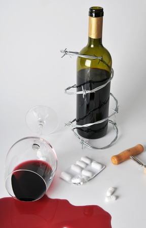 alcohol and pills photo