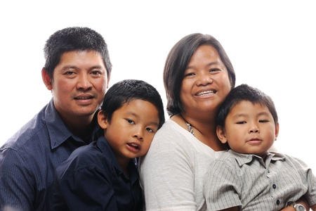 Asian family with two boys Standard-Bild
