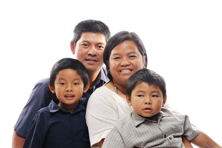 Happy filipino family together photo
